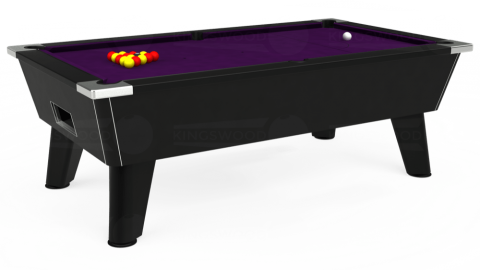 7ft Omega Free Play in Black with Hainsworth Elite-Pro Purple cloth