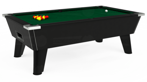 7ft Omega Free Play in Black with Hainsworth Elite-Pro Spruce cloth
