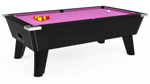 7ft Omega Free Play in Black with Hainsworth Smart Pink cloth