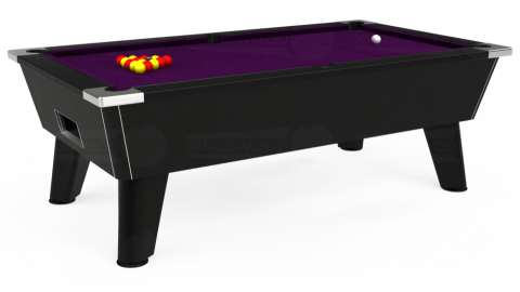 7ft Omega Free Play in Black with Hainsworth Smart Purple cloth
