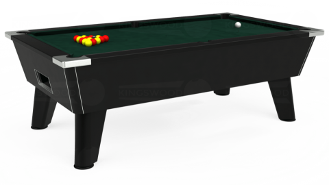 7ft Omega Free Play in Black with Hainsworth Smart Ranger Green cloth