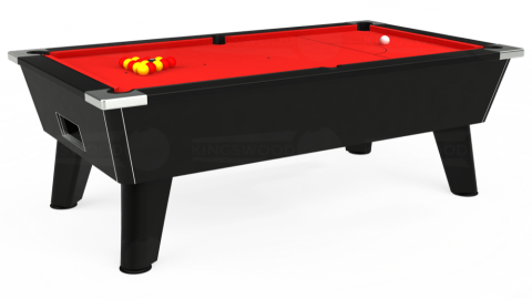 7ft Omega Free Play in Black with Hainsworth Smart Red cloth