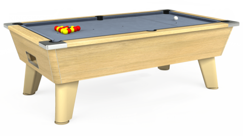 7ft Omega Free Play in Light Oak with Hainsworth Elite-Pro Bankers Grey cloth