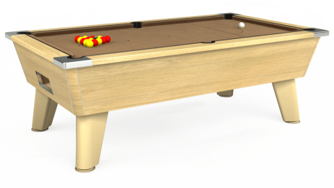 7ft Omega Free Play in Light Oak with Hainsworth Elite-Pro Camel cloth