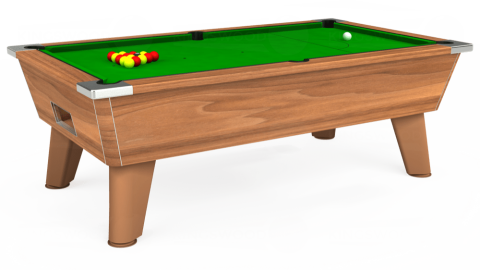 7ft Omega Free Play in Light Walnut with Standard Green cloth
