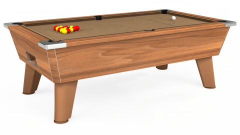 7ft Omega Free Play in Light Walnut with Hainsworth Elite-Pro Camel cloth