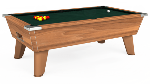 7ft Omega Free Play in Light Walnut with Hainsworth Smart Ranger Green cloth