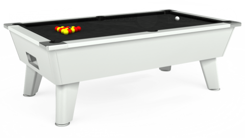 7ft Omega Free Play in White with Hainsworth Elite-Pro Black cloth