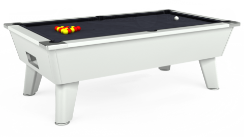 7ft Omega Free Play in White with Hainsworth Elite-Pro Charcoal cloth