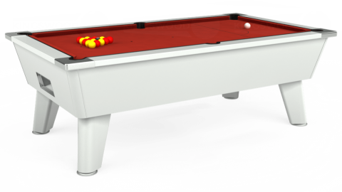 7ft Omega Free Play in White with Hainsworth Elite-Pro Red cloth