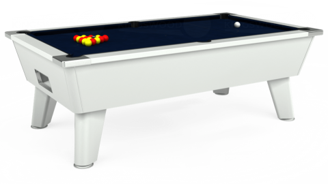 7ft Omega Free Play in White with Hainsworth Smart French Navy cloth