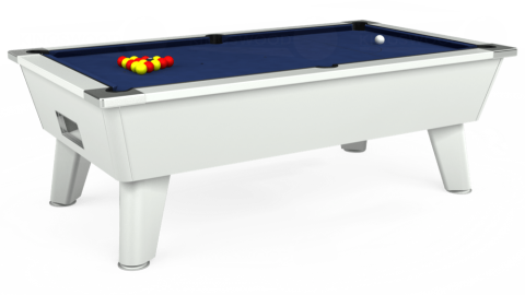 7ft Omega Free Play in White with Hainsworth Smart Royal Navy cloth