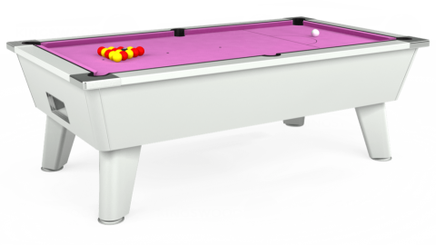 7ft Omega Free Play in White with Hainsworth Smart Pink cloth