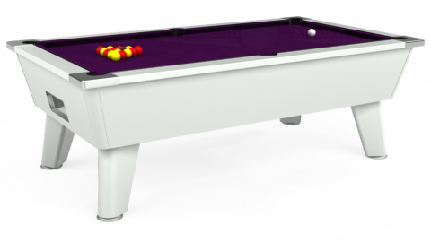 7ft Omega Free Play in White with Hainsworth Smart Purple cloth