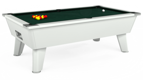 7ft Omega Free Play in White with Hainsworth Smart Ranger Green cloth