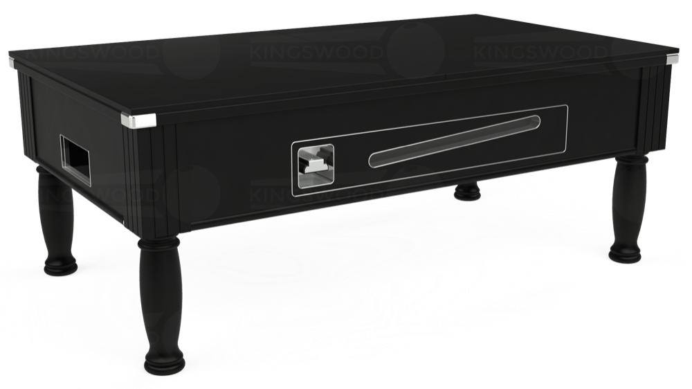 7ft Ascot Coin Operated Pool Table in Black with Hainsworth Elite-Pro Bankers Grey cloth delivered and installed - £1,390.00