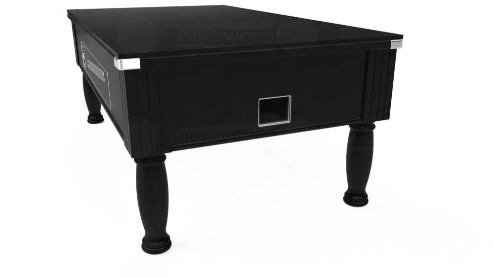 7ft Ascot Coin Operated Pool Table in Black with Hainsworth Smart Sage cloth delivered and installed - £1,390.00