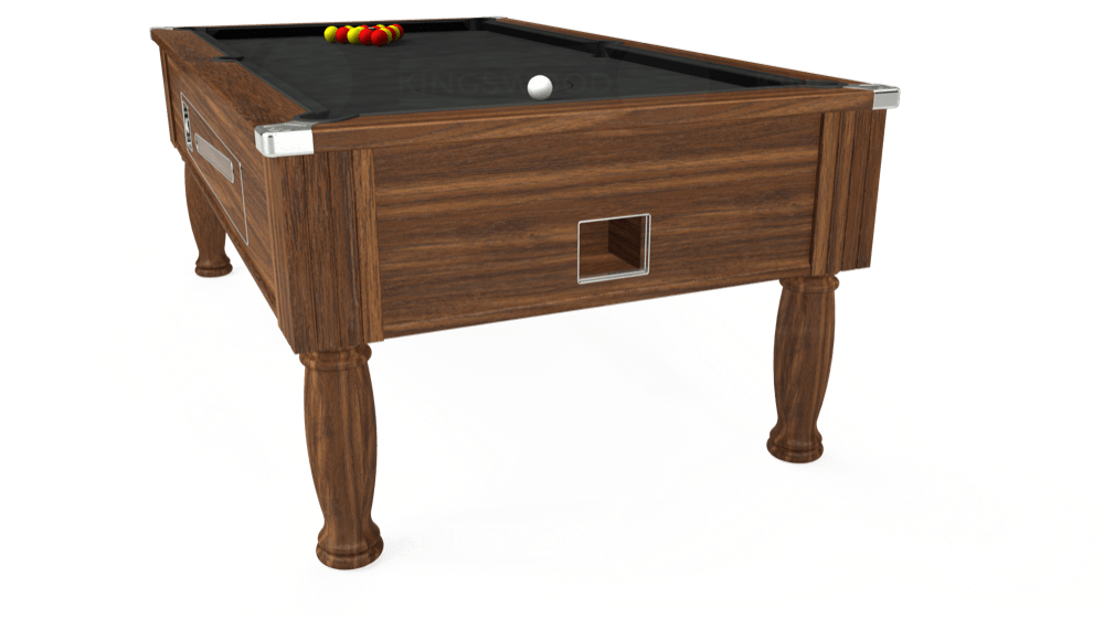 7ft Ascot Coin Operated Pool Table in Dark Walnut with Standard Black cloth delivered and installed - £1,270.00
