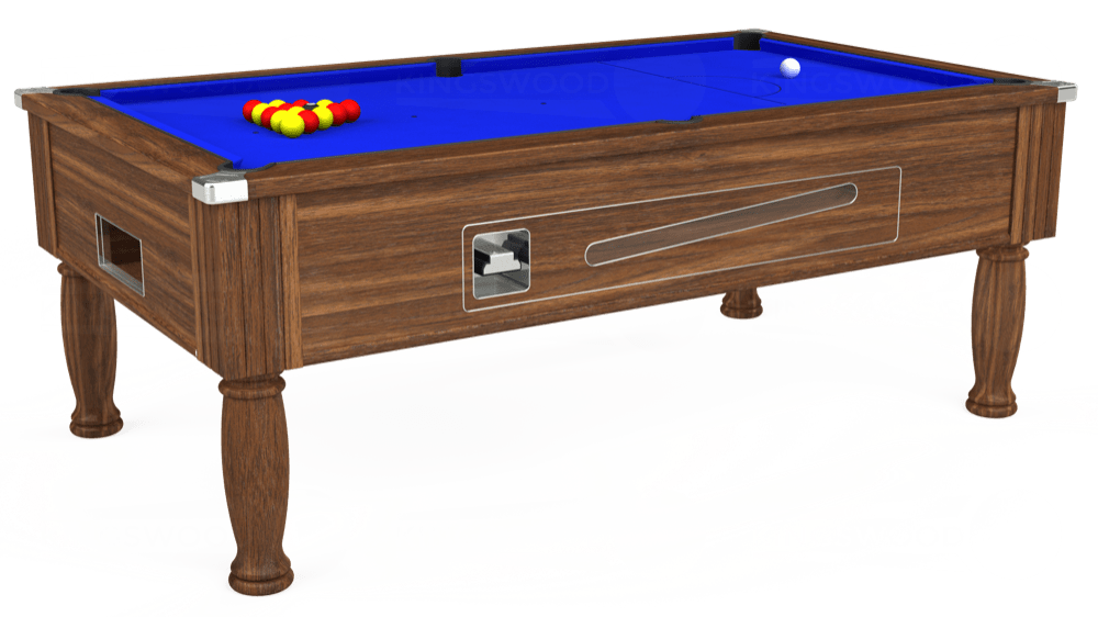 7ft Ascot Coin Operated Pool Table in Dark Walnut with Standard Blue cloth delivered and installed - £1,170.00