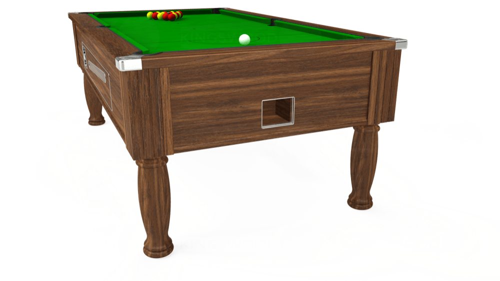 7ft Ascot Coin Operated Pool Table in Dark Walnut with Standard Green cloth delivered and installed - £1,270.00