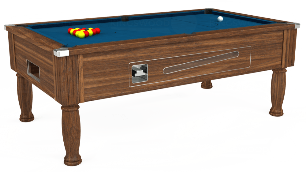 7ft Ascot Coin Operated Pool Table in Dark Walnut with Hainsworth Smart Slate cloth delivered and installed - £1,270.00