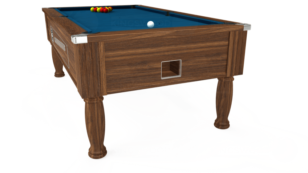 7ft Ascot Coin Operated Pool Table in Dark Walnut with Hainsworth Smart Slate cloth delivered and installed - £1,370.00