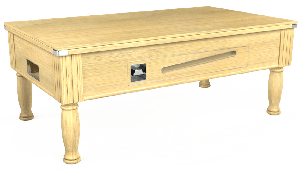 7ft Ascot Coin Operated Pool Table in Light Oak with Hainsworth Elite-Pro Spruce cloth delivered and installed - £1,300.00