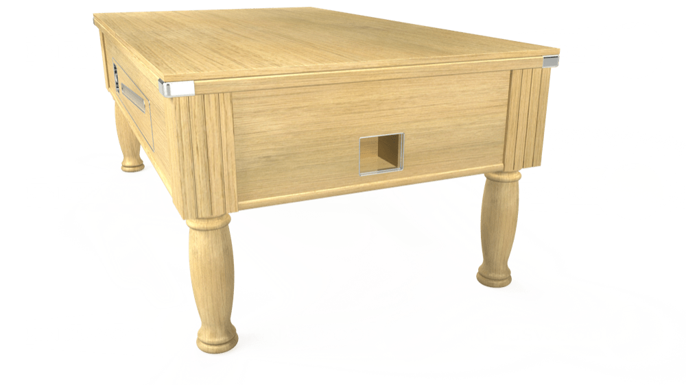 7ft Ascot Coin Operated Pool Table in Light Oak with Hainsworth Smart Sage cloth delivered and installed - £1,225.00