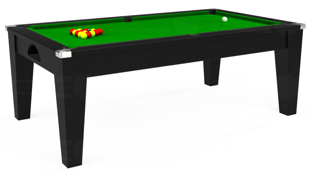 7ft Avant Guarde Pool Dining Table in Black with Standard Green cloth delivered and installed - £1,040.00