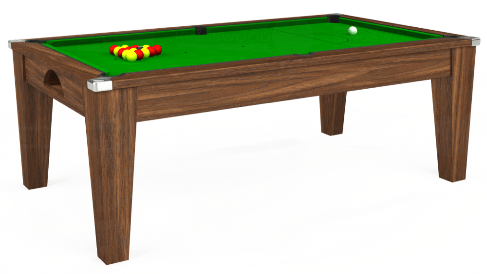 7ft Avant Guarde Pool Dining Table in Dark Walnut with Standard Green cloth delivered and installed - £1,040.00
