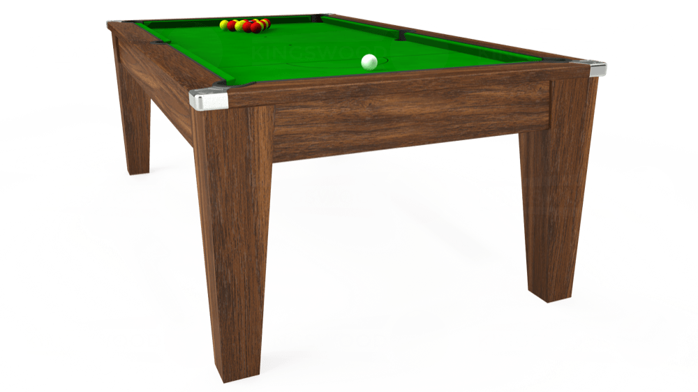 7ft Avant Guarde Pool Dining Table in Dark Walnut with Standard Green cloth delivered and installed - £975.00