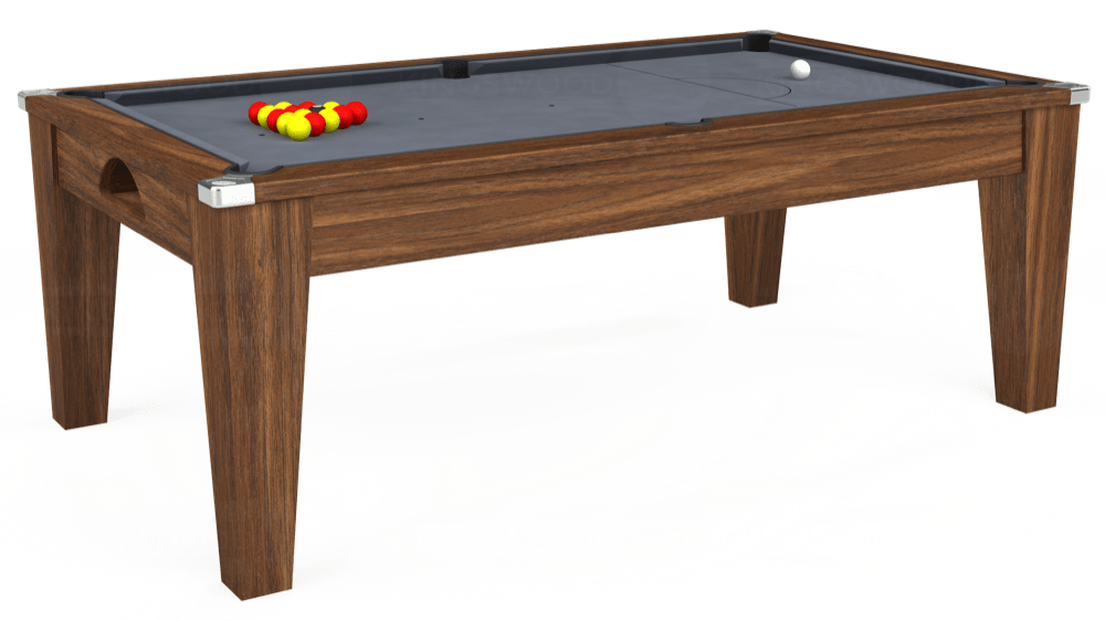 7ft Avant Guarde Pool Dining Table in Dark Walnut with Hainsworth Smart Silver cloth delivered and installed - £1,140.00