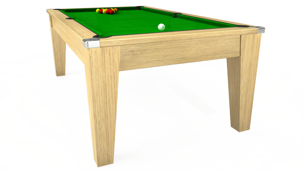 7ft Avant Guarde Pool Dining Table in Light Oak with Standard Green cloth delivered and installed - £975.00