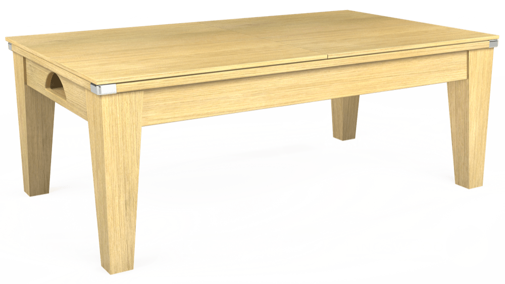 7ft Avant Guarde Pool Dining Table in Light Oak with Hainsworth Smart Silver cloth delivered and installed - £1,140.00