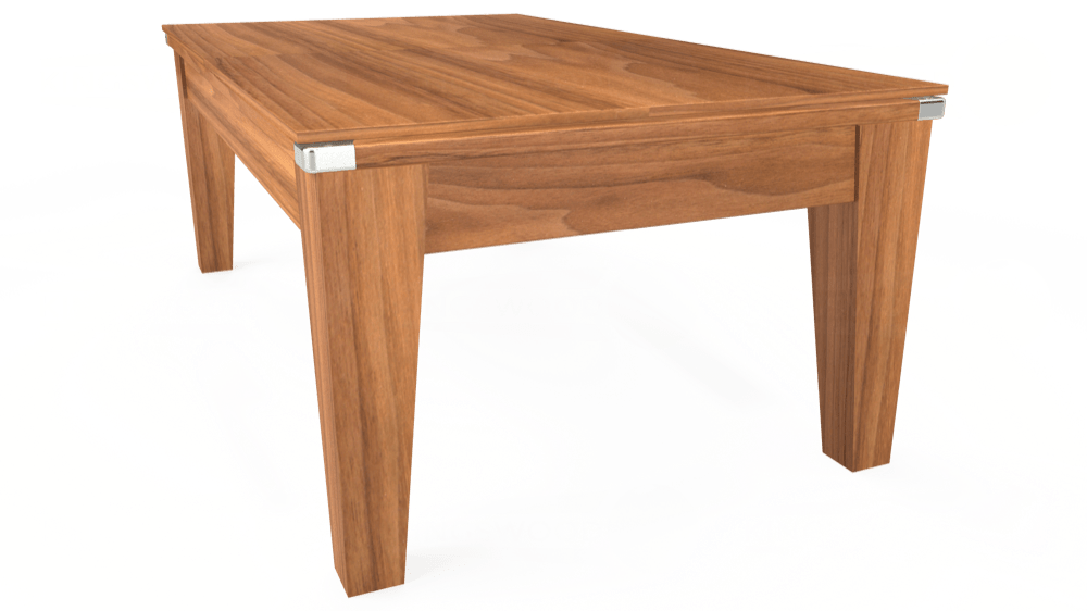 7ft Avant Guarde Pool Dining Table in Light Walnut with Standard Green cloth delivered and installed - £1,040.00