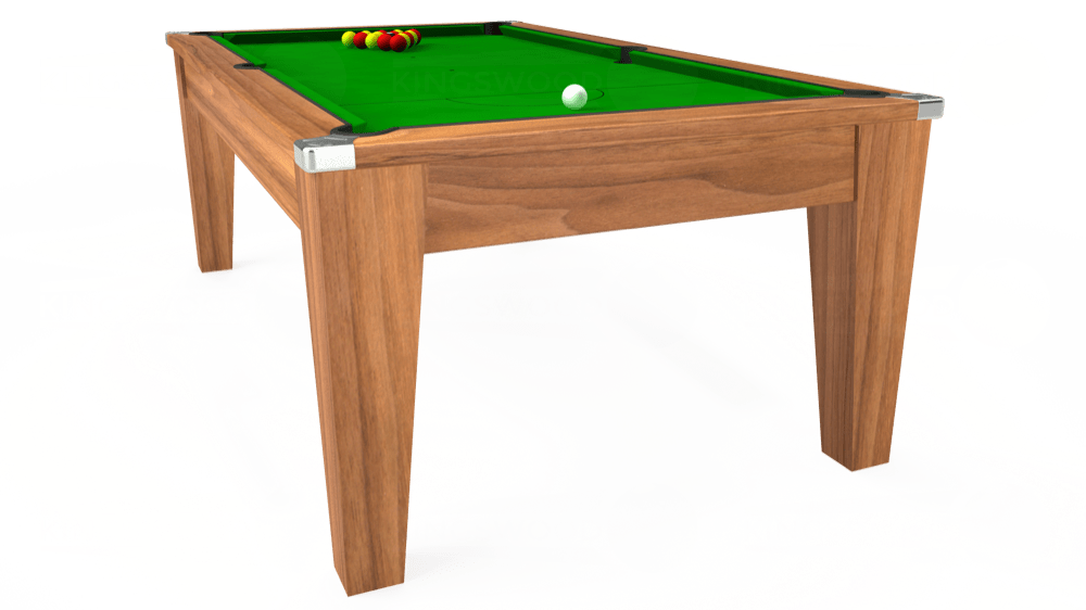 7ft Avant Guarde Pool Dining Table in Light Walnut with Standard Green cloth delivered and installed - £975.00