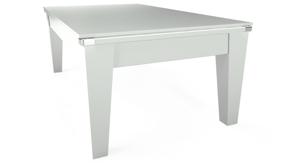 7ft Avant Guarde Pool Dining Table in White with Hainsworth Elite-Pro Red cloth delivered and installed - £1,140.00