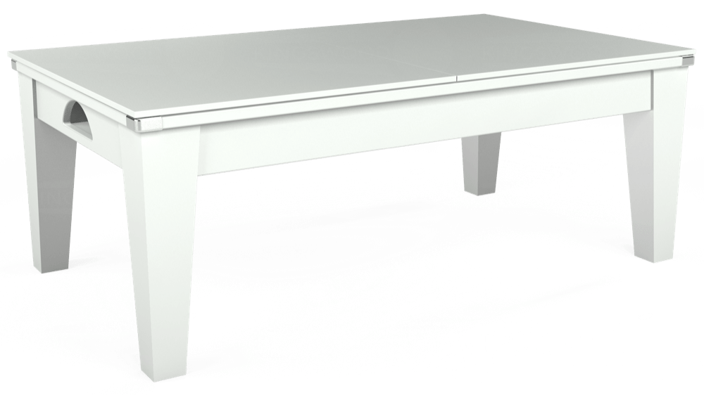 7ft Avant Guarde Pool Dining Table in White with Hainsworth Smart Silver cloth delivered and installed - £1,140.00