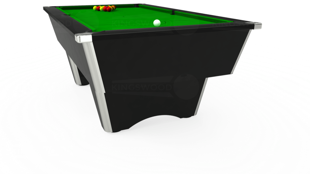 7ft Elite Free Play Pool Table in Black with Standard Green cloth delivered and installed - £1,025.00