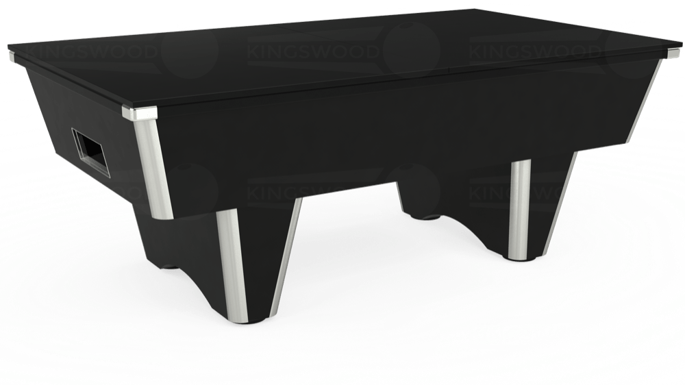 7ft Elite Free Play Pool Table in Black with Hainsworth Elite-Pro Bankers Grey cloth delivered and installed - £1,125.00