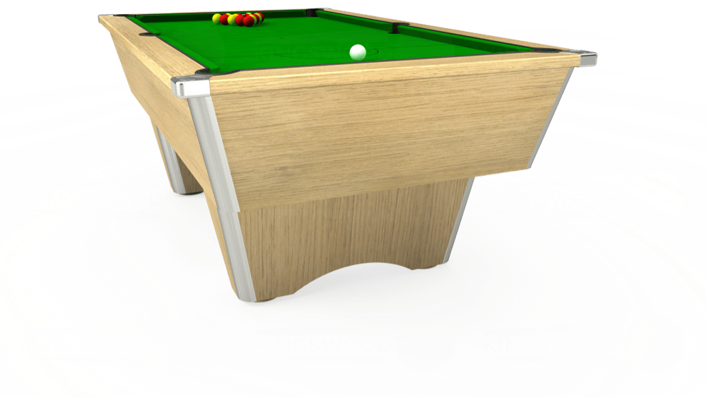 7ft Elite Free Play Pool Table in Light Oak with Standard Green cloth delivered and installed - £975.00