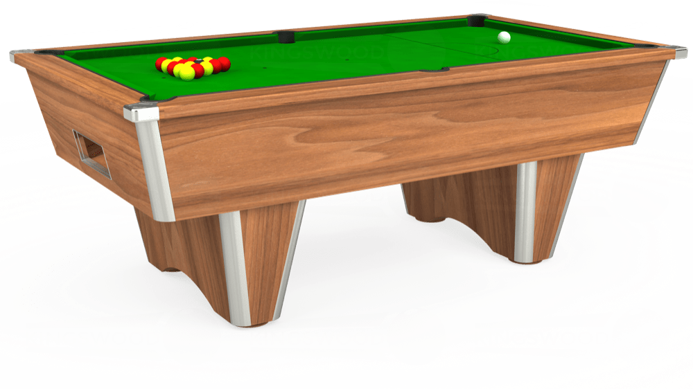 7ft Elite Free Play Pool Table in Light Walnut with Standard Green cloth delivered and installed - £1,025.00
