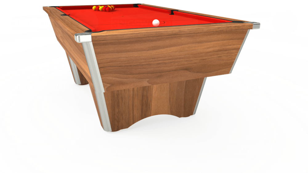 7ft Elite Free Play Pool Table in Light Walnut with Hainsworth Smart Orange cloth delivered and installed - £1,125.00