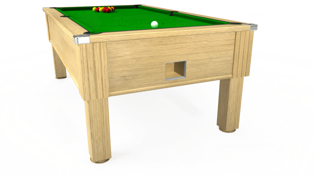 7ft Emirates Free Play Pool Table in Light Oak with Standard Green cloth delivered and installed - £1,050.00
