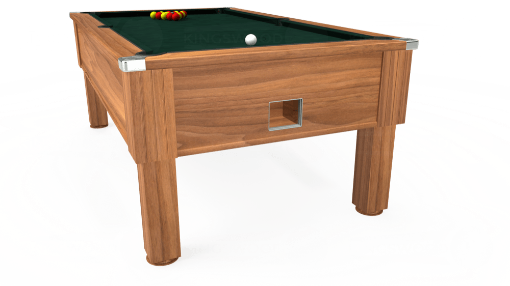 7ft Emirates Free Play Pool Table in Light Walnut with Hainsworth Smart Ranger Green cloth delivered and installed - £1,150.00