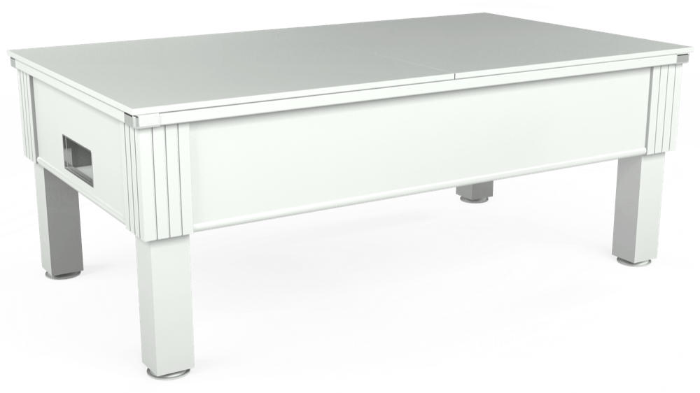 7ft Emirates Free Play Pool Table in White with Hainsworth Elite-Pro Bankers Grey cloth delivered and installed - £1,150.00