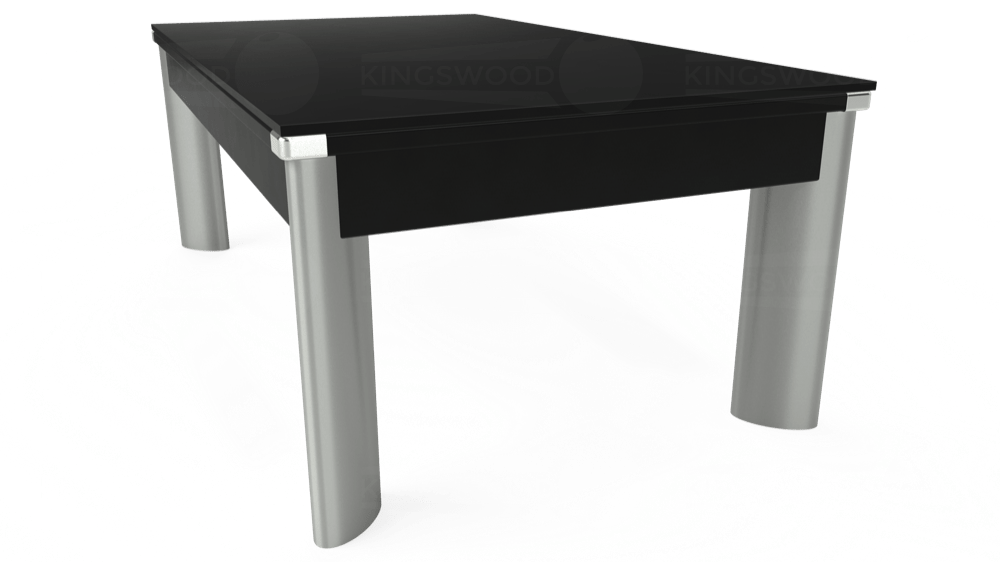 7ft Fusion Pool Dining Table in Black with Hainsworth Elite-Pro Bankers Grey cloth delivered and installed - £1,350.00