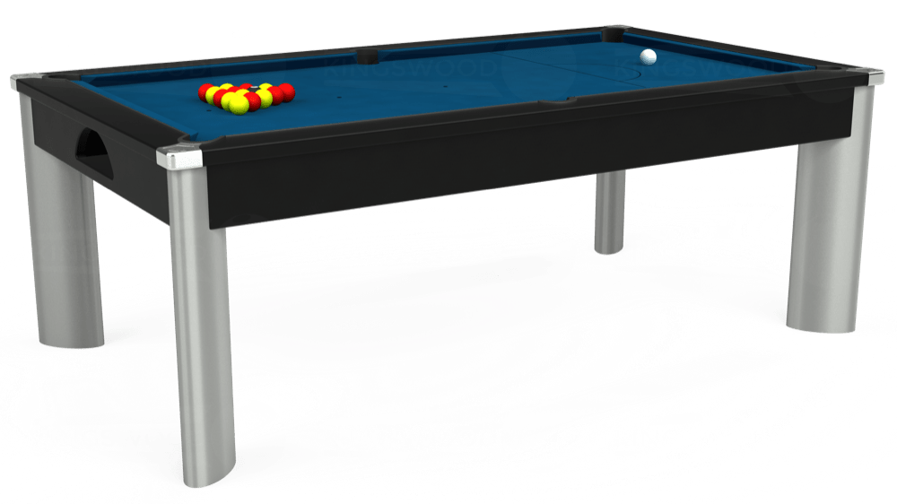 7ft Fusion Pool Dining Table in Black with Hainsworth Smart Slate cloth delivered and installed - £1,350.00