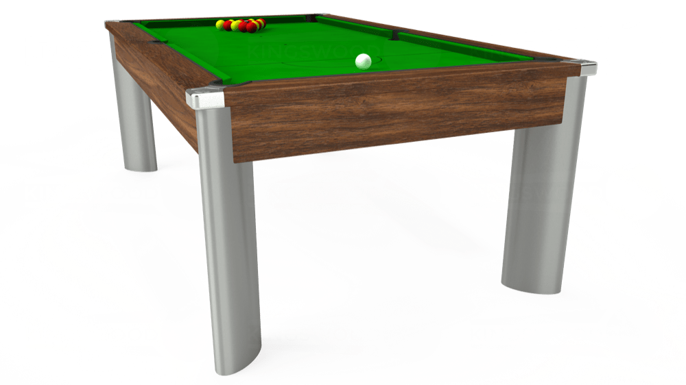 7ft Fusion Pool Dining Table in Dark Walnut with Standard Green cloth delivered and installed - £1,170.00