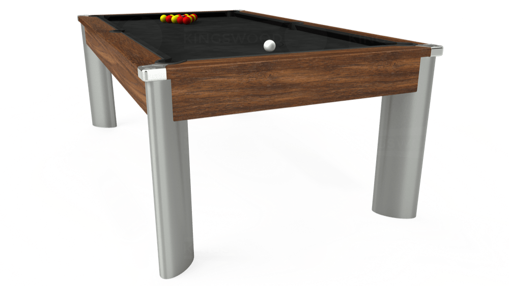 7ft Fusion Pool Dining Table in Dark Walnut with Hainsworth Elite-Pro Black cloth delivered and installed - £1,350.00